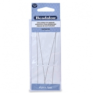 Beadalon Collapsible Eye Needles 12.7mm Silver