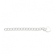 Beadalon Extension Chain 5cm Heart Silver
