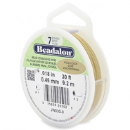 Beadalon stringing wire 7 strand 0.46mm Gold