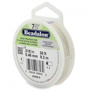 Beadalon stringing wire 7 strand 0.46mm Silver
