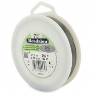 Beadalon stringing wire 7 strand 0.38mm Bright Stainless Steel