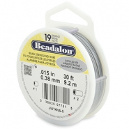 Beadalon stringing wire 19 strand 0.38mm Satin Silver