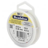 Beadalon stringing wire 19 strand 0.38mm Silver