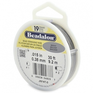 Beadalon stringing wire 19 strand 0.38mm Bright Stainless Steel