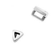 DQ European metal sliders triangle Ø3.2x1.8mm Antique Silver (nickel free)