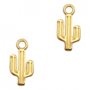 DQ European metal charms cactus Gold (nickel free)