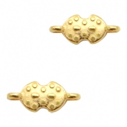 DQ European metal charms connector Gold (nickel free)