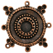 Charms TQ metal round Boho style with settings Copper (Nickel Free)