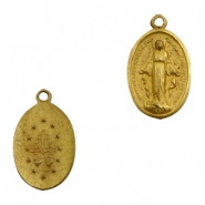 Charms TQ metal oval Jezus Antique Bronze (Nickel Free)