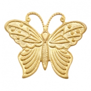 Charms TQ metal butterfly Matt Gold (Nickel Free)