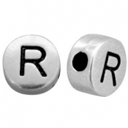 Metal-look beads letter R Antique Silver