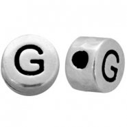 Metal-look beads letter G Antique Silver