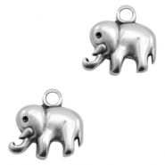 DQ European metal charms Elephant Antique Silver (nickel free)