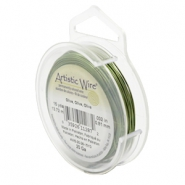 20 Gauge Artistic Wire Olive Green