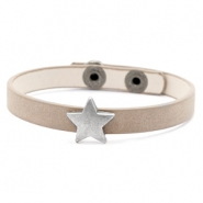 Ready-made bracelets stud star Country Brown