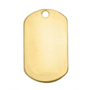 ImpressArt stamping blanks name tag 32x19mm Brass Light Gold