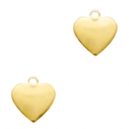 ImpressArt stamping blanks charms heart 13mm Brass Light Gold