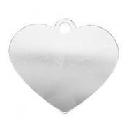ImpressArt stamping blanks charms heart 42x48mm Aluminium Silver
