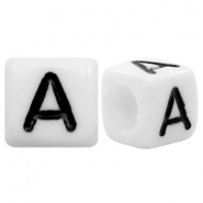 Acrylic letter beads letter A White