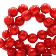 Super Polaris beads round 8 mm Candy Red
