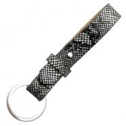 Cuoio key chain 15mm Snake Black