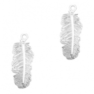Bohemian charms feather Silver