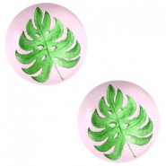 Basic cabochon 12mm Tropical leaf-Palace Rose