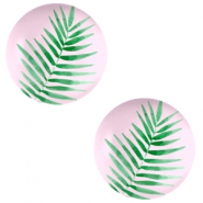 Basic cabochon 20mm Fern Leaf-Palace Rose