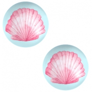 Basic cabochon 20mm Shell-Airy Blue