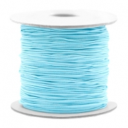 Coloured elastic cord 0.8mm Light Turquoise Blue