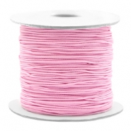Coloured elastic cord 0.8mm Light Pink