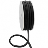 Stitched Elastic Ibiza Ribbon Black