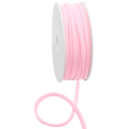 Stitched Elastic Ibiza Ribbon Light Rose