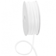 Stitched Elastic Ibiza Ribbon White