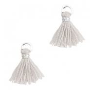 Tassels 1cm Silver-Light Mirage Grey