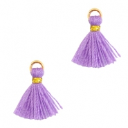 Tassels 1cm Gold-Deep Lavender Purple