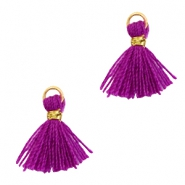 Tassels 1cm Gold-Electric Purple Violet