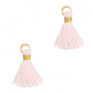 Tassels 1cm Gold-Blushing Bride Rose