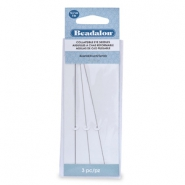 Beadalon Collapsible Eye Needles 12.7mm assorted Silver