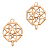 DQ European metal charms connector dream catcher Rose Gold (nickel free)