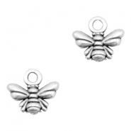 DQ European metal charms bee Antique Silver (nickel free)