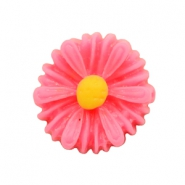 Daisy flower beads 13mm Neon Pink