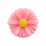 Daisy flower beads 13mm Rosy Pink