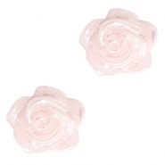 Rose beads 6mm Pink Harmony-Silver Coating