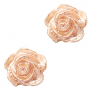 Rose beads 6mm White-Peach Nougat Pearl Shine