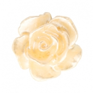 Rose beads 10mm White-Apricot Butter Pearl Shine