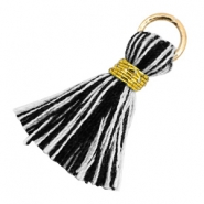 Tassels 1.8cm Gold-Black White