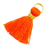 Tassels 1.8cm Gold-Neon Orange