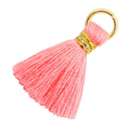 Tassels 1.8cm Gold-Neon Coral Pink