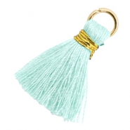 Tassels 1.8cm Gold-Clearwater Blue